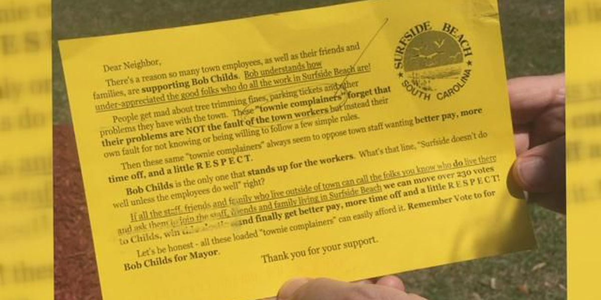 Unsanctioned election fliers distributed in Surfside Beach