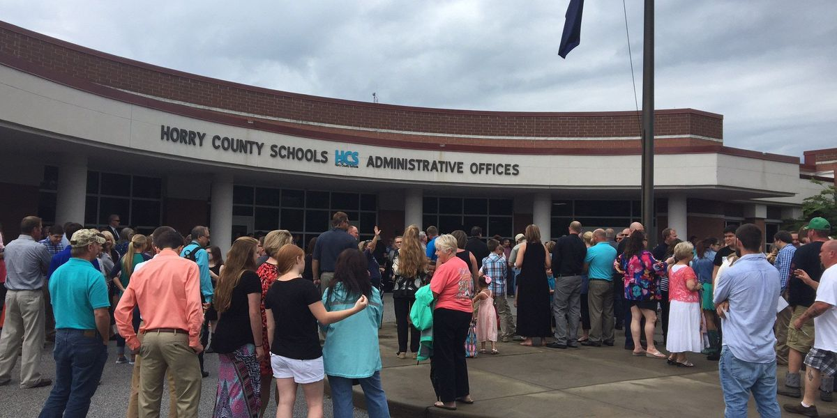 Prayer vigil held ahead of Horry County Schools meeting about Title IX ruling
