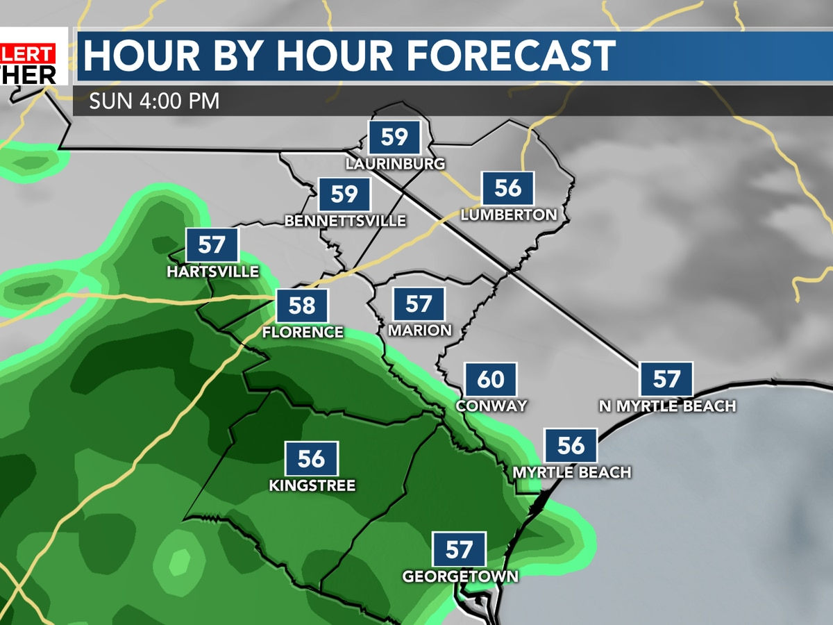 FIRST ALERT: Rain chances increase through Sunday evening