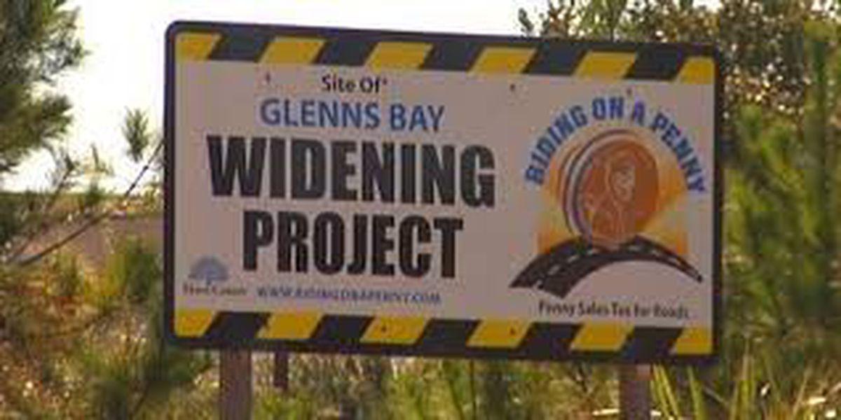 TRAFFIC ALERT: Lane shifts, lane closures to take place this week in area of Glenns Bay Road