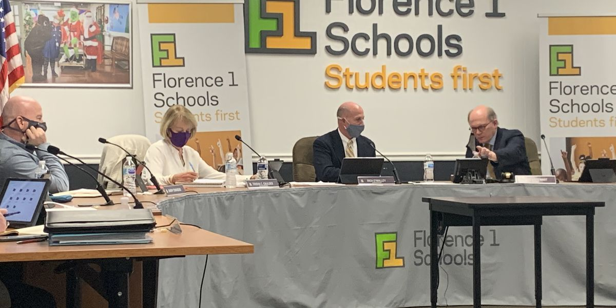 Florence School District 1 officials discuss the consolidation of Florence School District 4