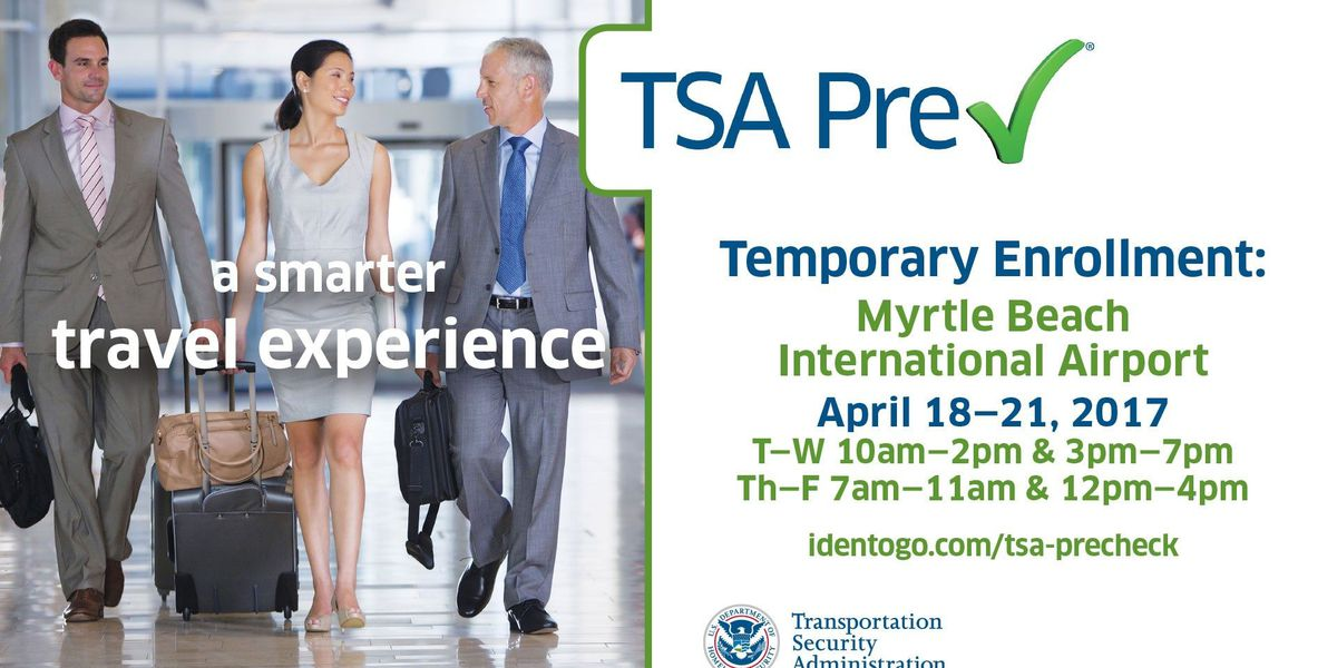 Myrtle Beach Airport opening up enrollment in TSA Pre-Check
