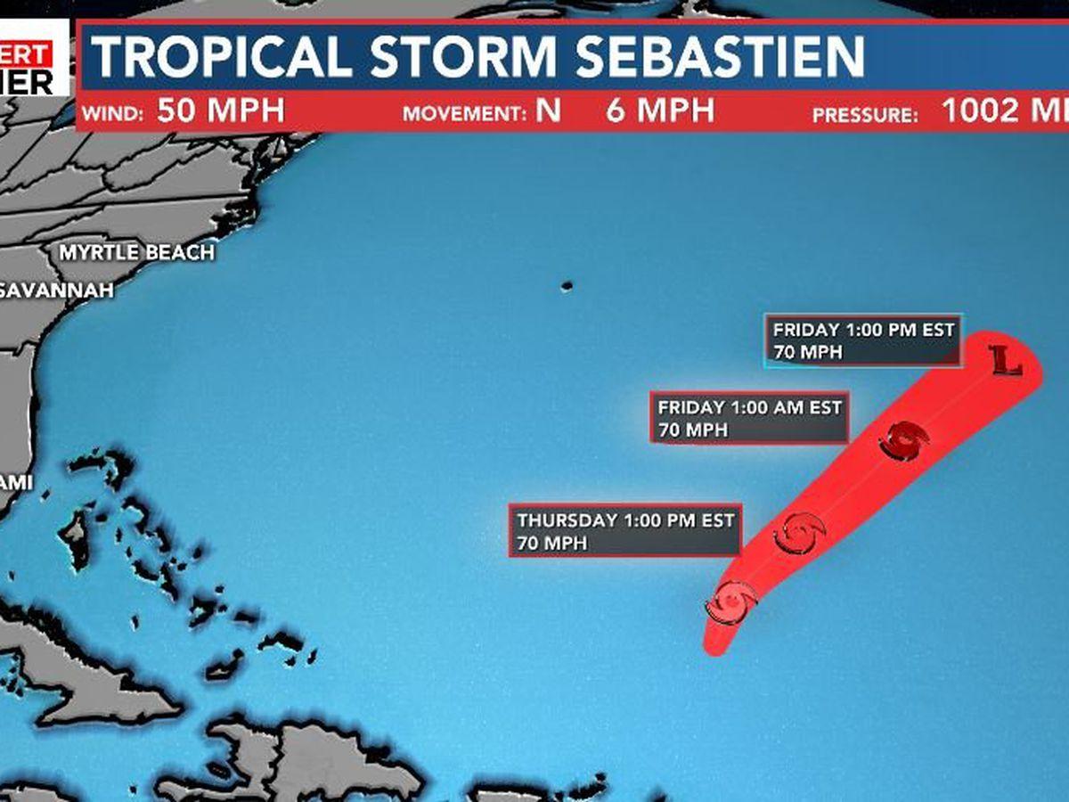 FIRST ALERT: Tropical Storm Sebastien lingers in the Atlantic