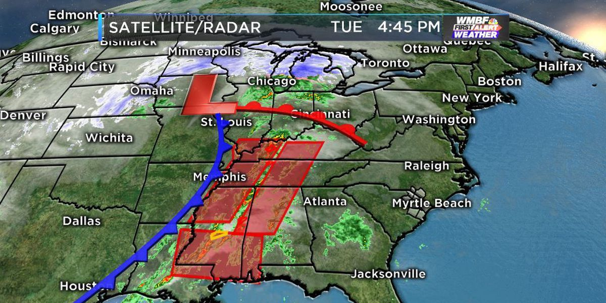 Rain and storms return on Wednesday