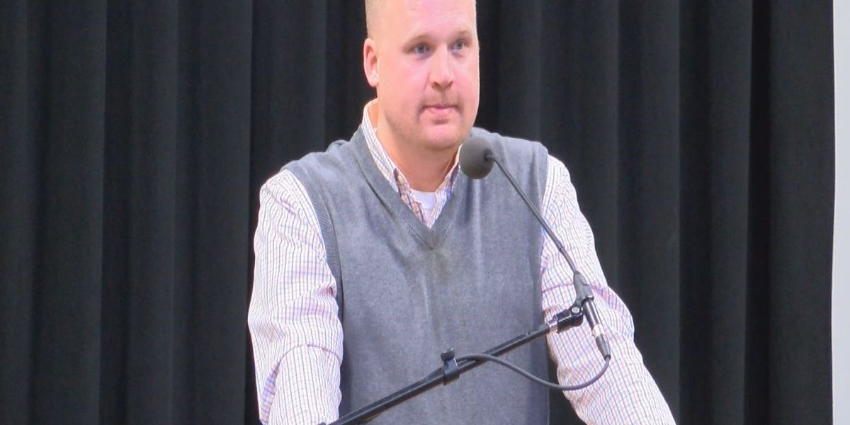 Child sexual abuse survivor Matt Sandusky speaks in Florence