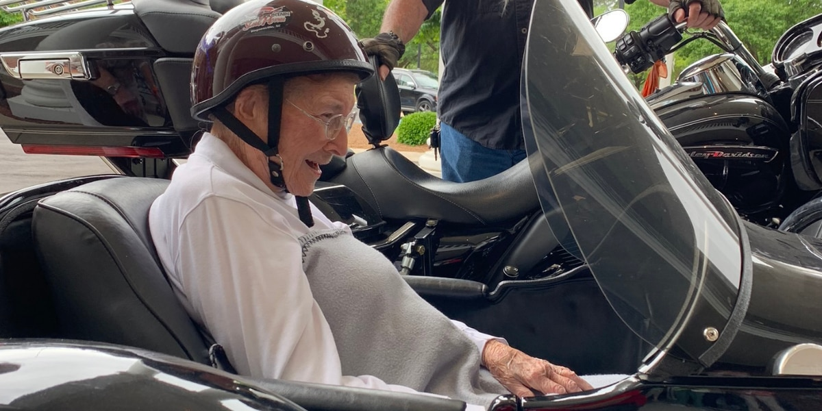 Checked off bucket list: 101-year-old Florence woman rides motorcycle for first time