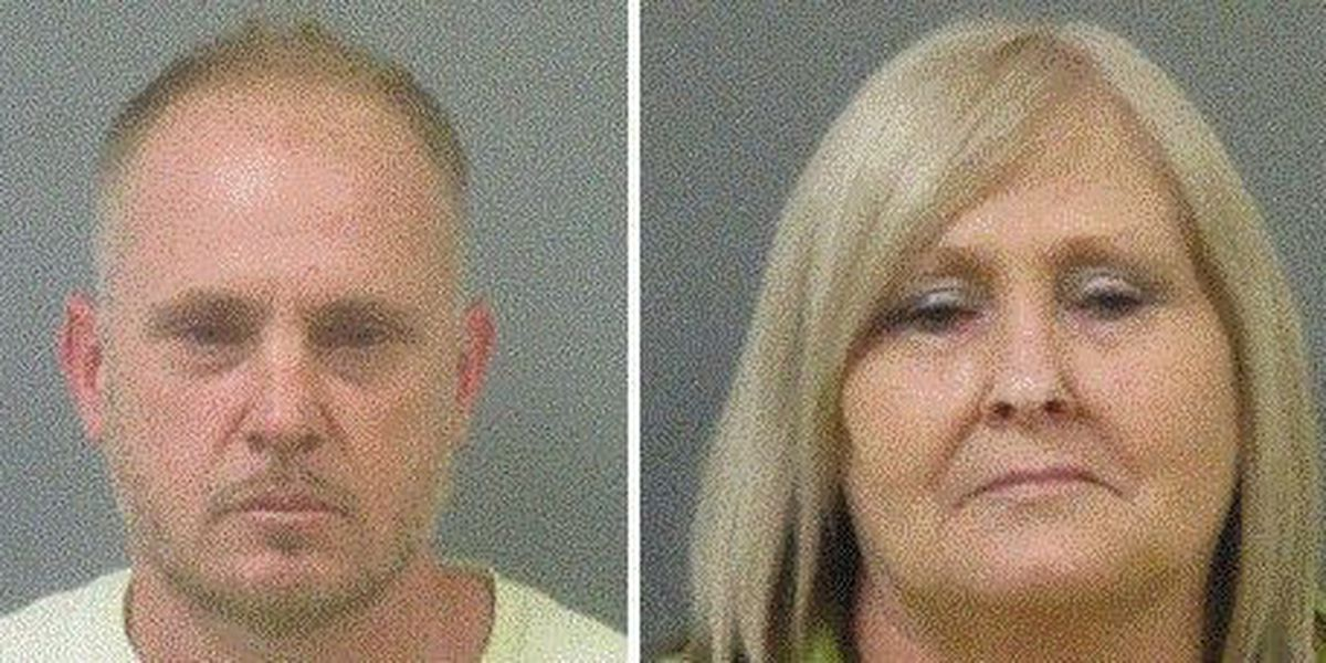 GRAPHIC IMAGES: Mother, son arrested for cutting dog's ears with scissors