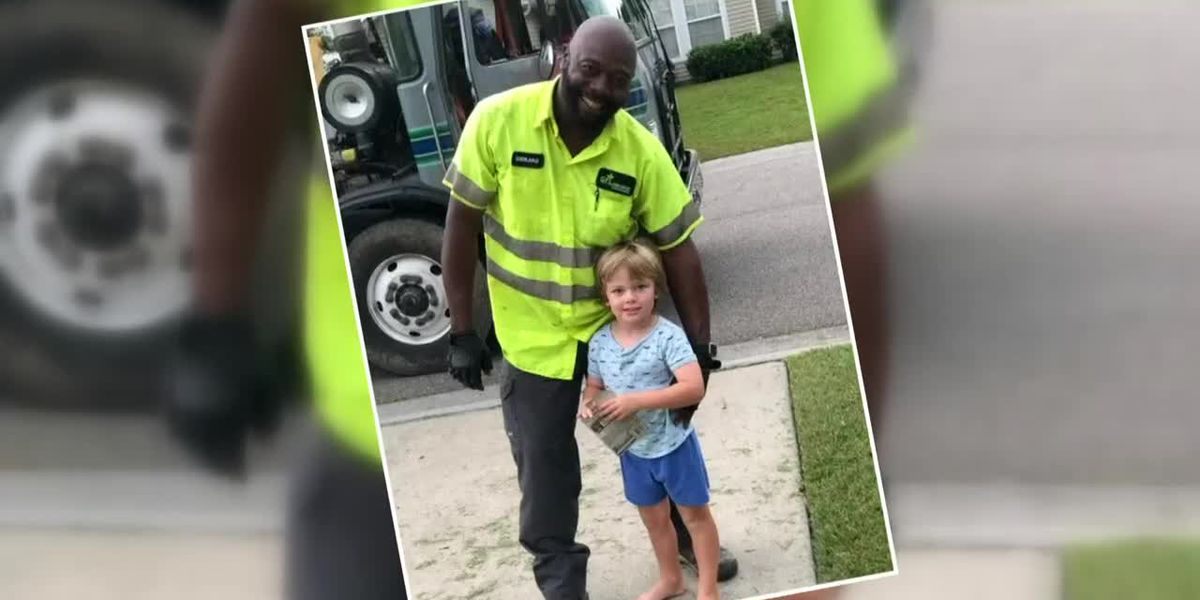 Trash collector befriends 4-year-old along route
