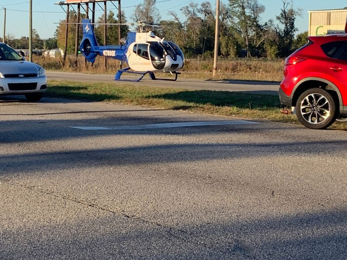 TRAFFIC ALERT: Wreck closes all 501 northbound lanes near Conway, victims airlifted