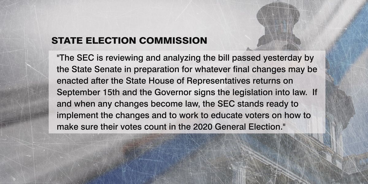 SC State Election Commission says they are ready if absentee voting expansion bill is signed into law