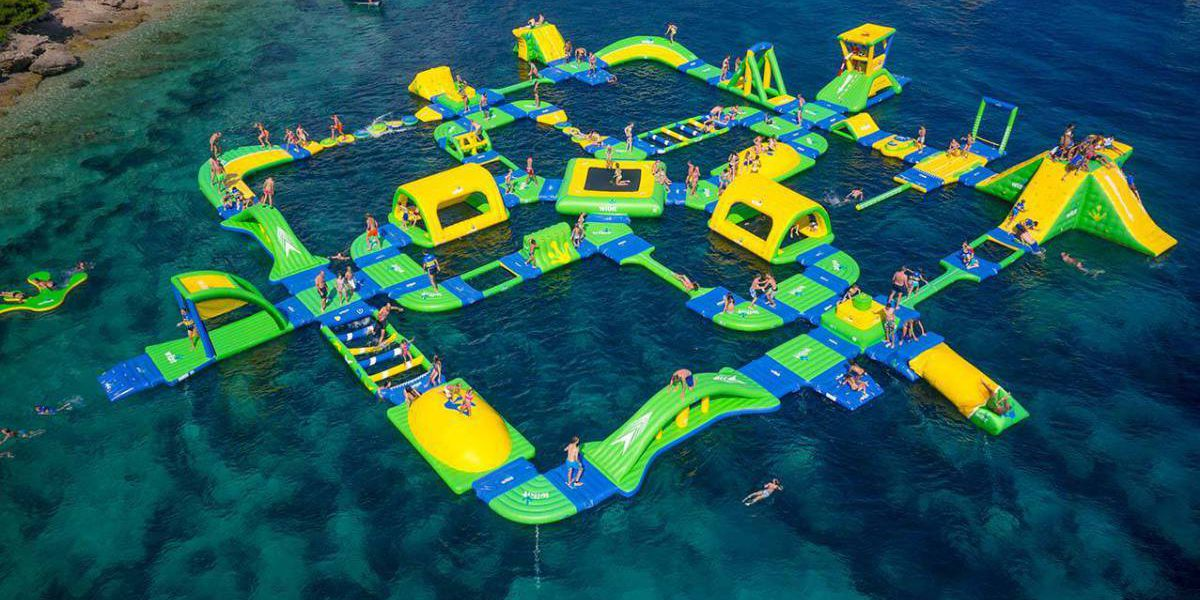 Enormous floating 'aqua park' at Shark Wake Park expected to open in May
