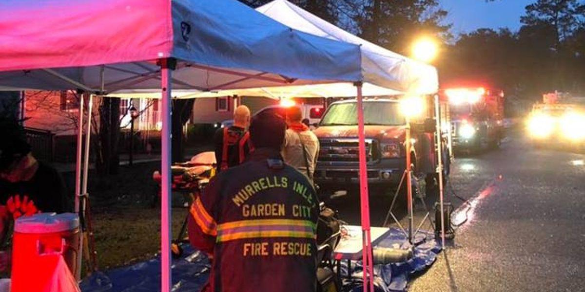 Crews investigating home fire on Pecan Street in Garden City