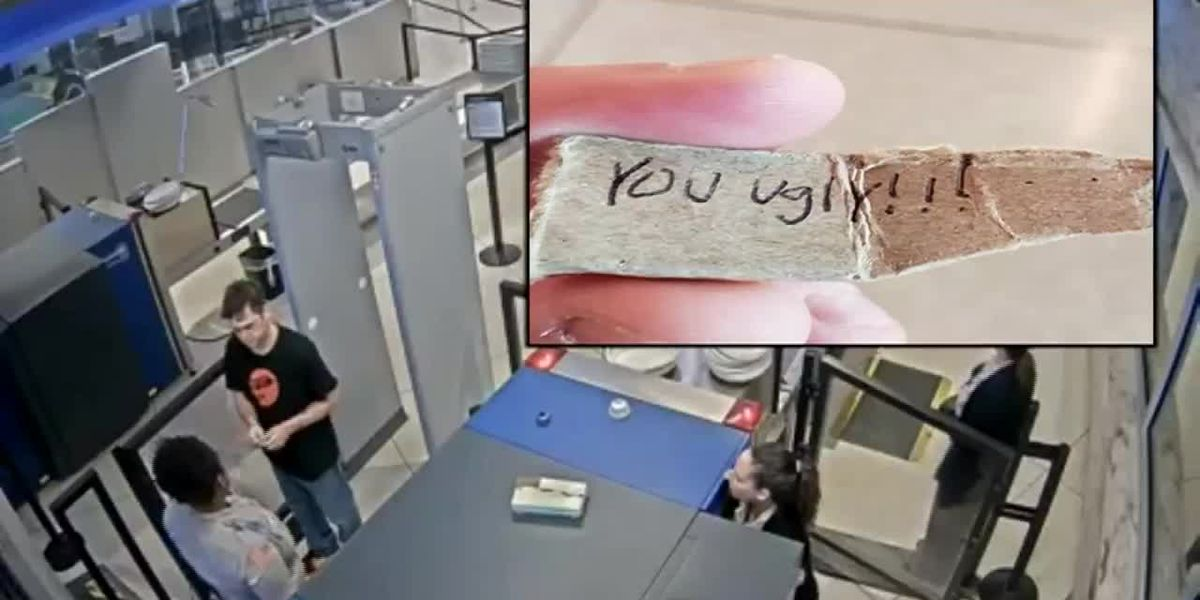'You ugly!' note gets airport security worker fired