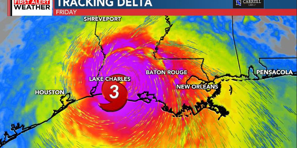 FIRST ALERT: Delta once again a major hurricane