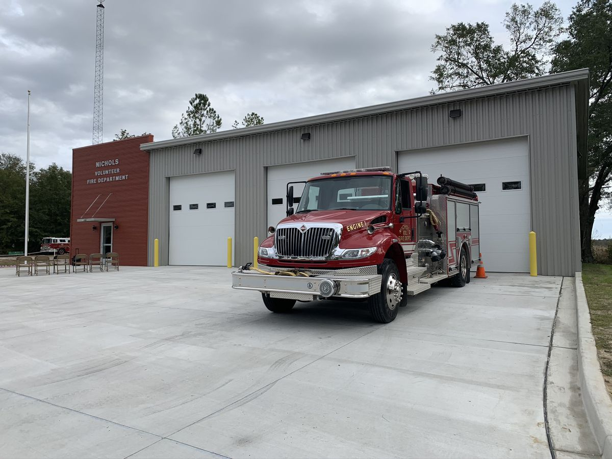 Town of Nichols unveils new volunteer fire station