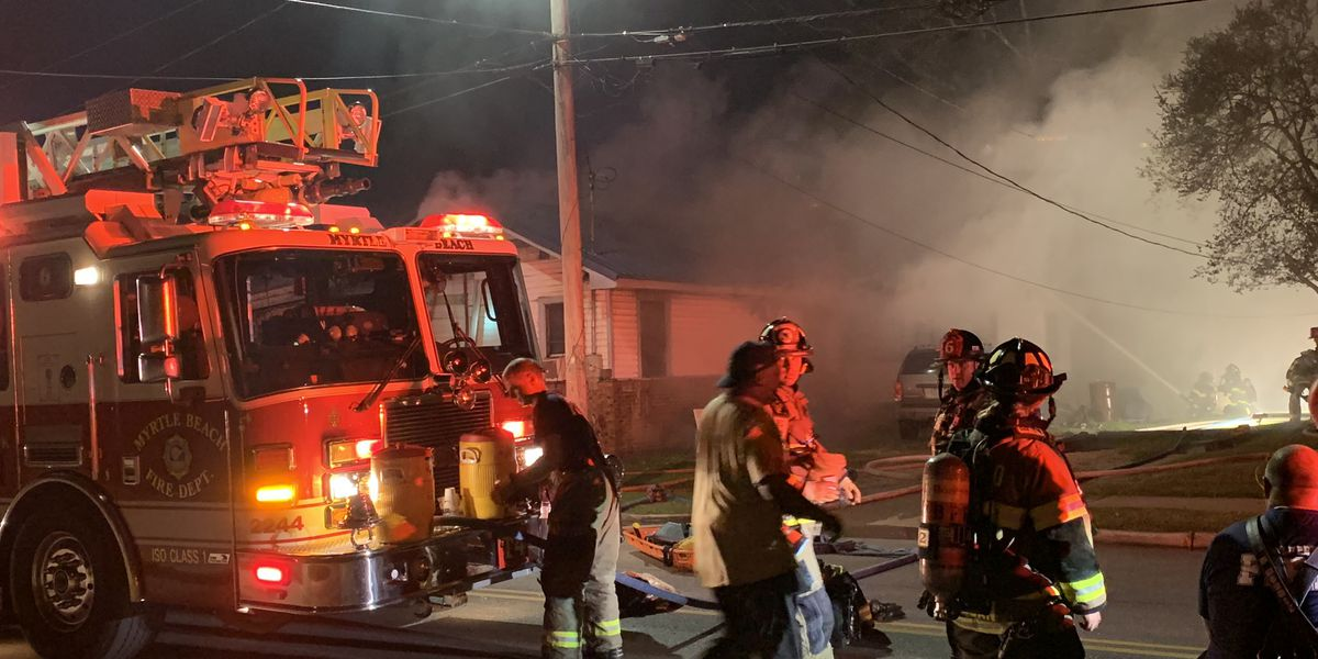 Myrtle Beach firefighters respond to house fire on Canal Street
