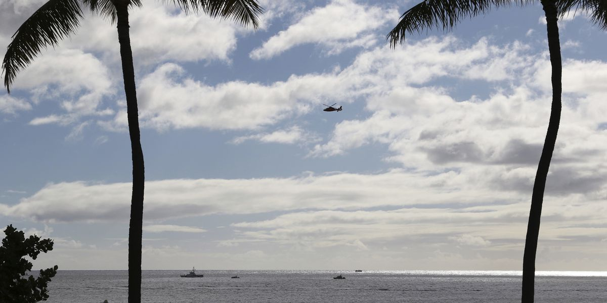 Pilot seriously injured after military jet crash off Hawaii