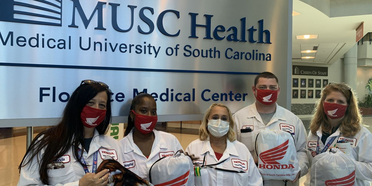 Honda of South Carolina donates over 100 blankets to MUSC Health Florence