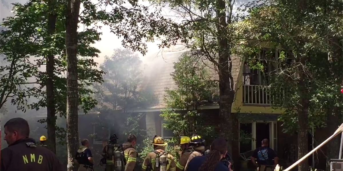 Woman, two dogs rescued from two-story house fire in North Myrtle Beach