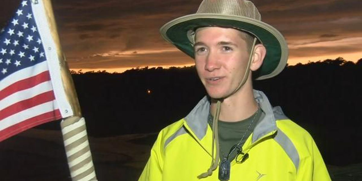 20-year-old Tennessee man begins cross country trek to support veterans