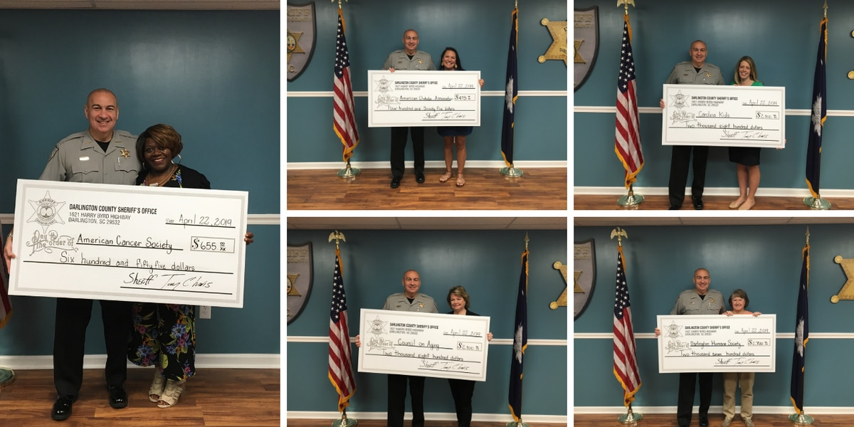 Sheriff donates thousands of dollars to local charities