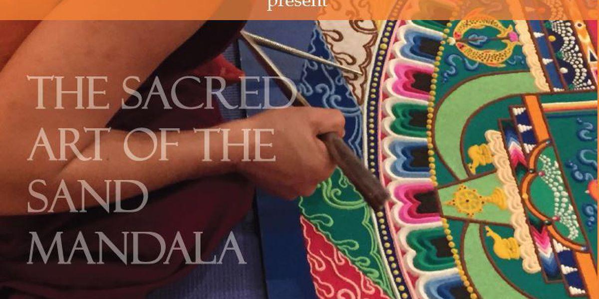 Tibetan Monks return to Art Museum to create sacred art work