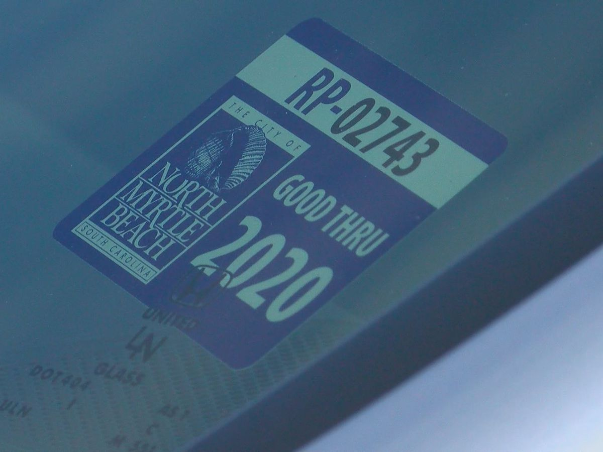 North Myrtle Beach leaders consider fine for improperly placed parking decals