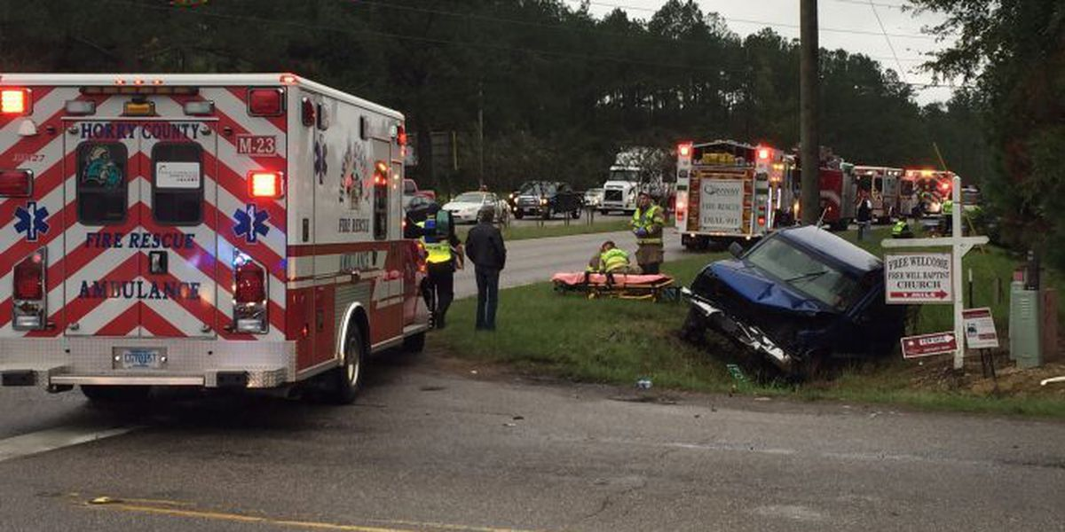 Accident reported on northbound Highway 501 and Four Mile Road in Conway