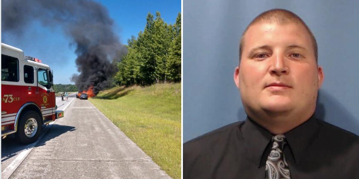 Rowan deputy rescues elderly woman from burning car