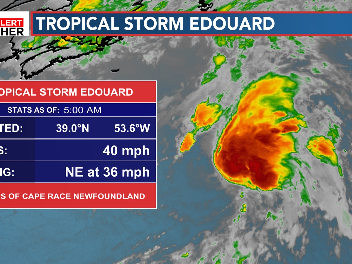 FIRST ALERT: Tropical Storm Edouard remains out in the Atlantic
