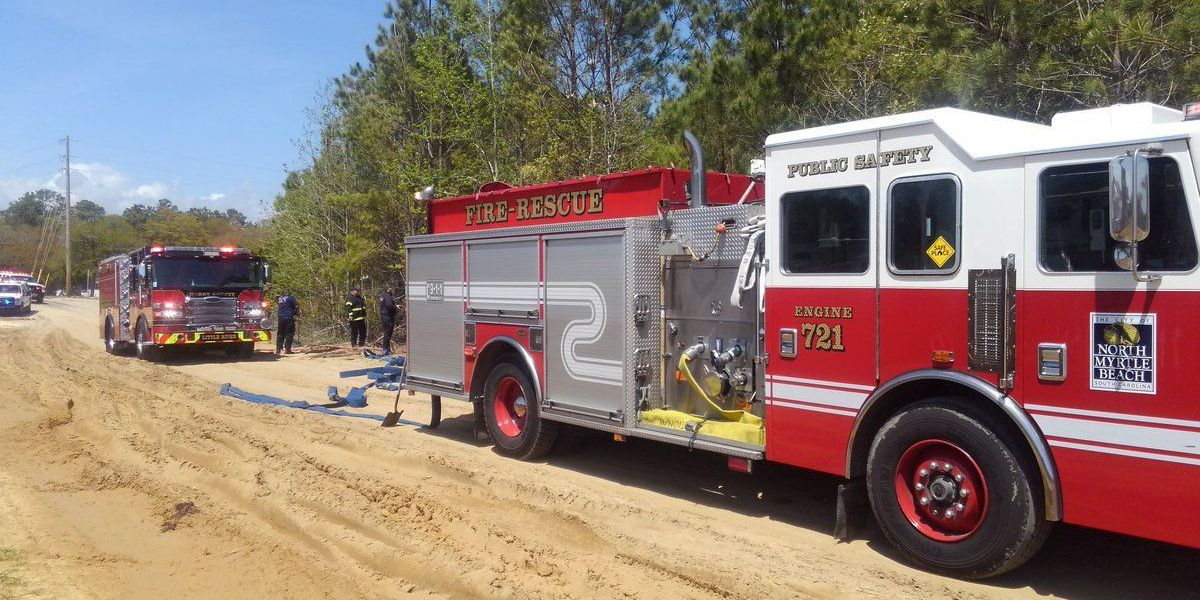 Woods fire in North Myrtle Beach contained, no structures threatened