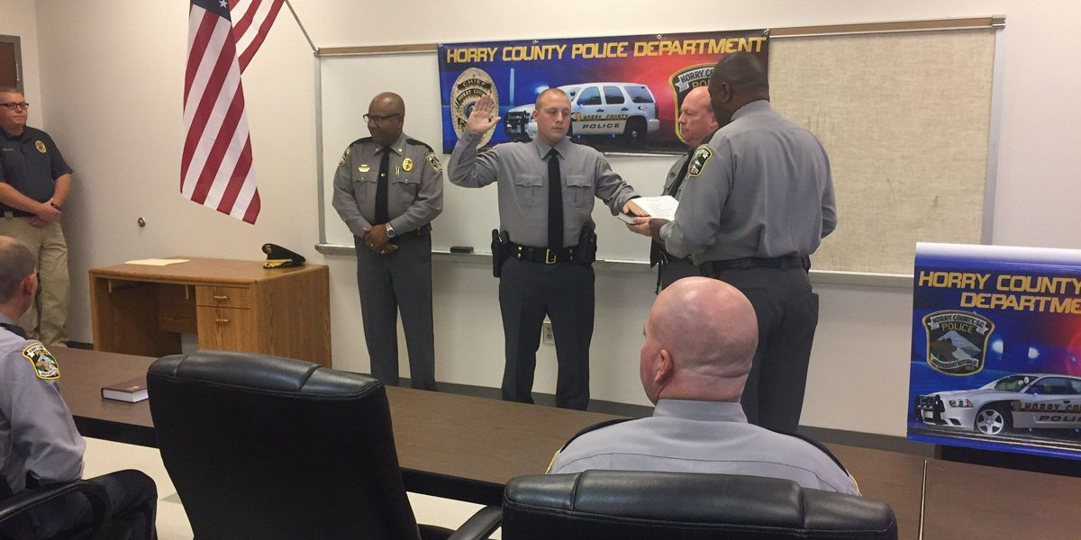 Horry County Police Department swears in 10 new officers