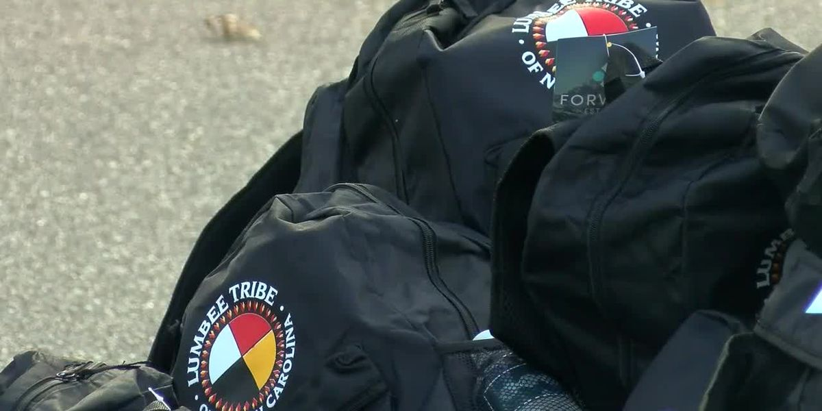 Lumbee Tribe hosts backpack giveaway in Pembroke