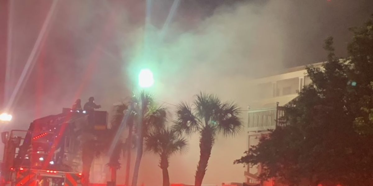 Myrtle Beach firefighters respond to motel fire