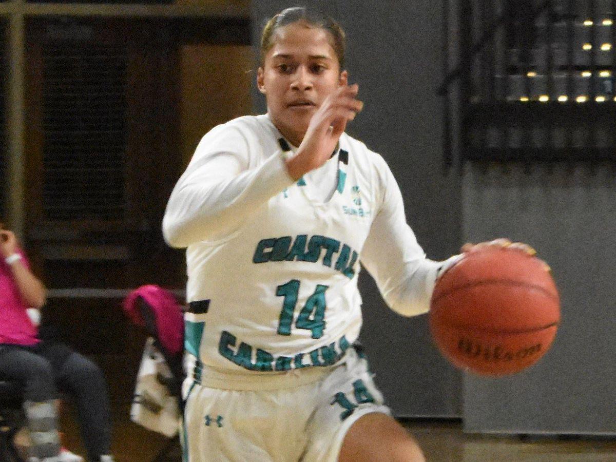 CCU women's basketball falls short against Troy, 97-82