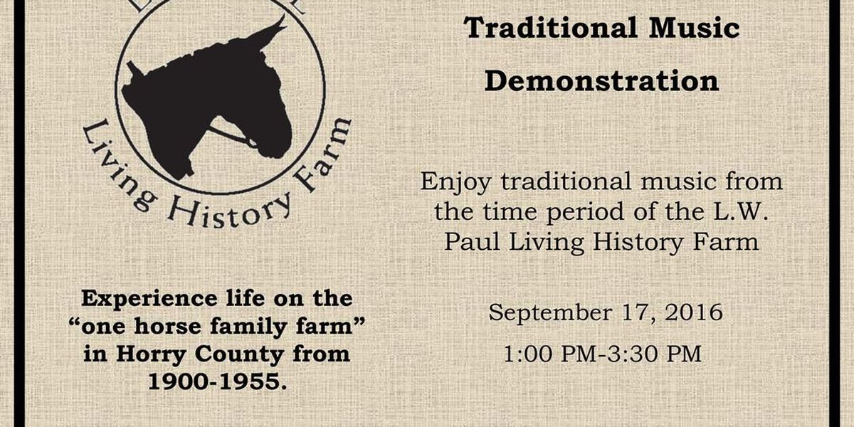 The L.W. Paul Living History Farm invites public to traditional music event