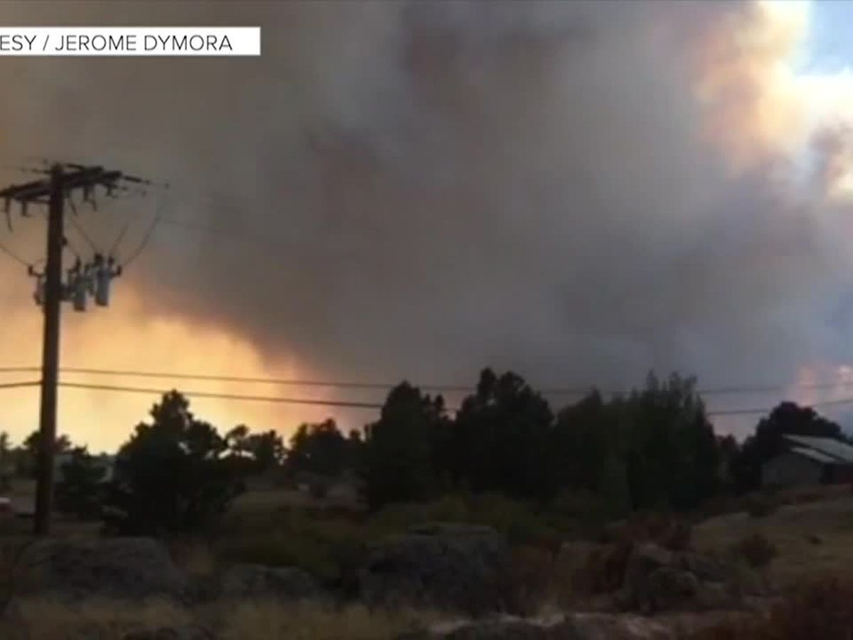 Raging Colorado wildfire forces evacuations