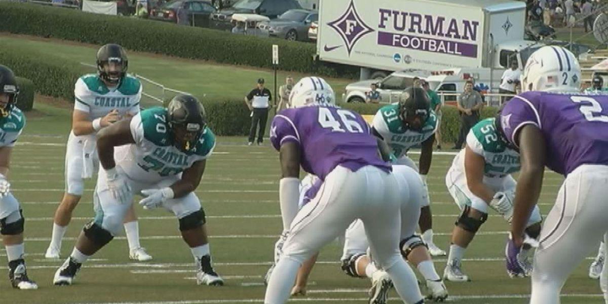 Coastal Carolina sneaks past Furman, 38-35