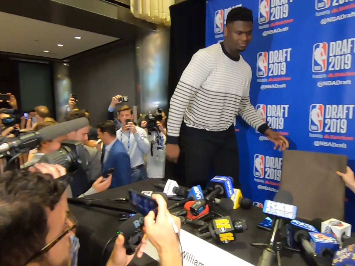 Pelicans take Zion Williamson with No. 1 pick in NBA draft