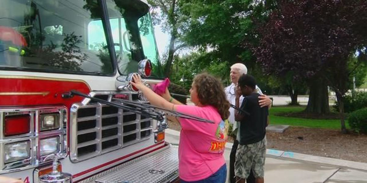 This is Carolina: Pint-sized firefighters give fire truck some extra shine