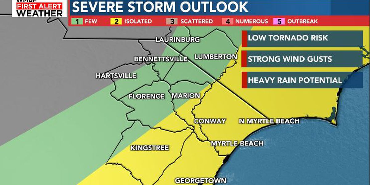 FIRST ALERT: Strong storms possible Sunday afternoon and evening
