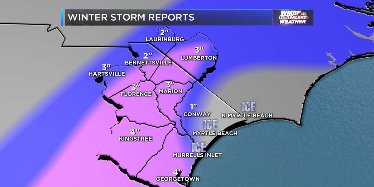 FIRST ALERT: Winter Storm winding down, roads to remain treacherous