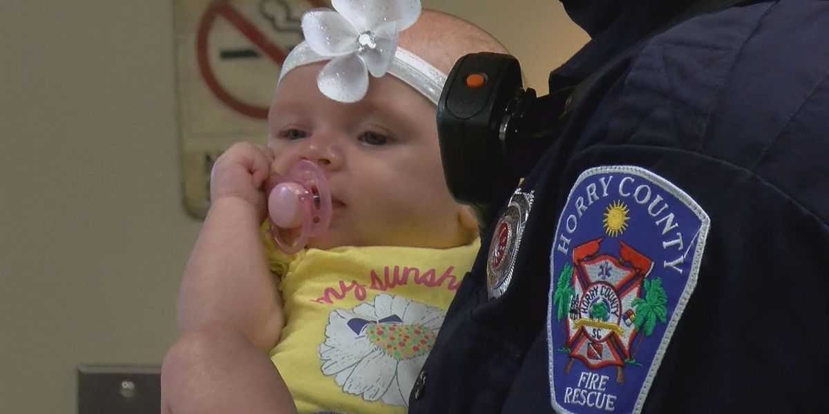 Infant reunites with first responders who saved her life
