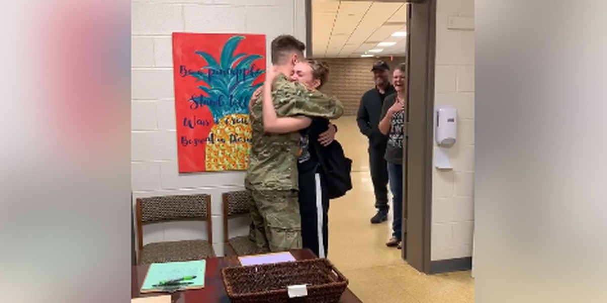 SURPRISE: Soldier surprises sister at Socastee High School