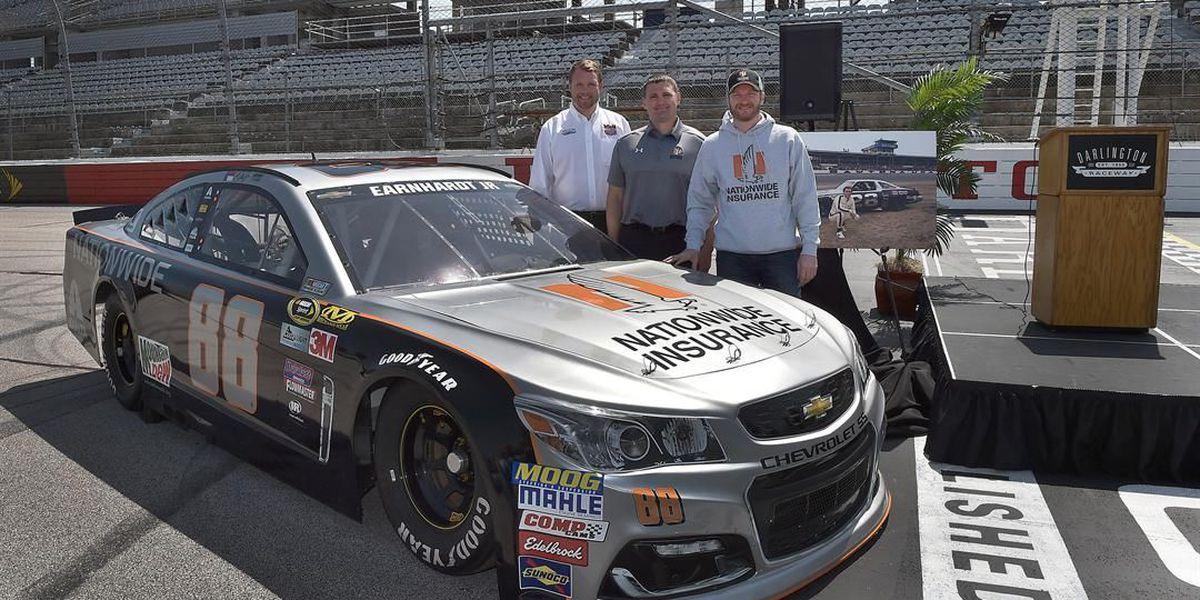 Earnhardt Jr. unveils throwback paint scheme for September's Southern 500 at Darlington Raceway
