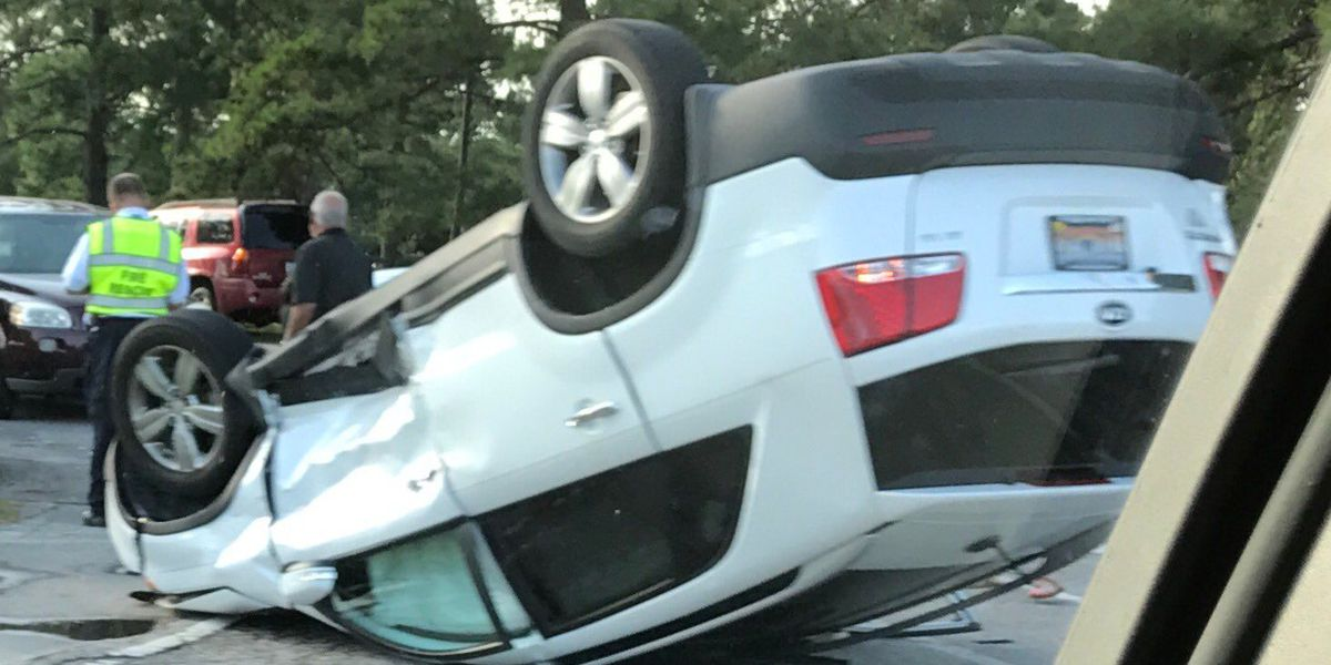 TRAFFIC UPDATE: Horry County Fire responded to rollover accident at Forestbrook Rd. and McCormick Rd. on Sunday