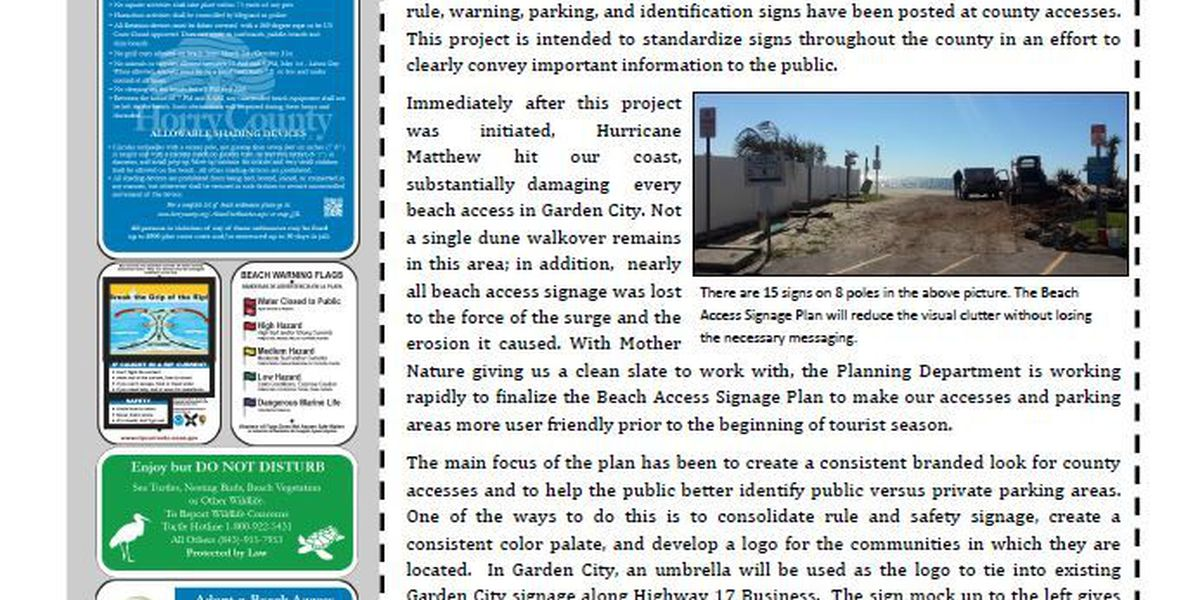 Fewer signs make for less confusion at Horry County beach accesses