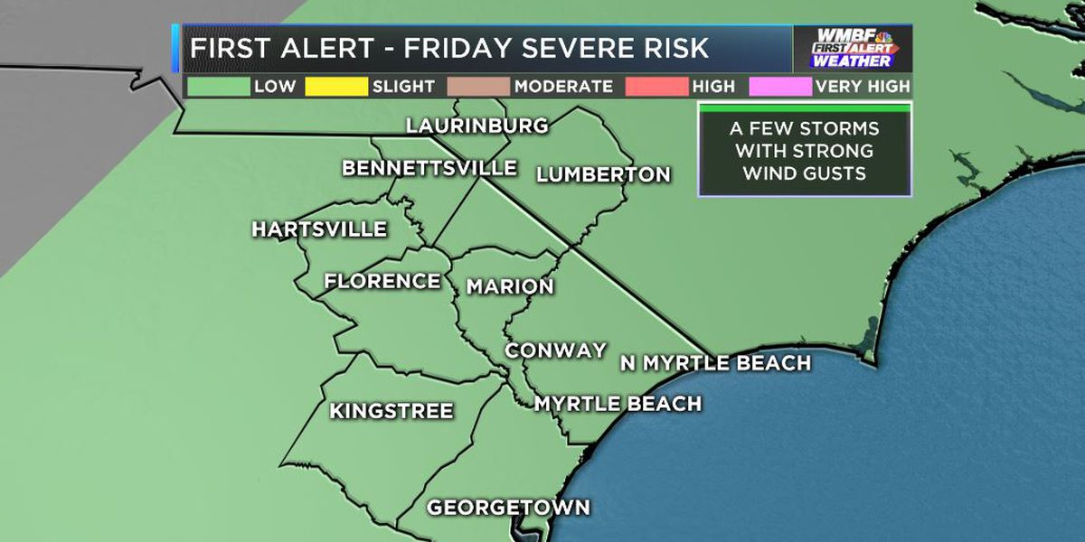 FIRST ALERT WEATHER DAY FRIDAY - showers and storms at times