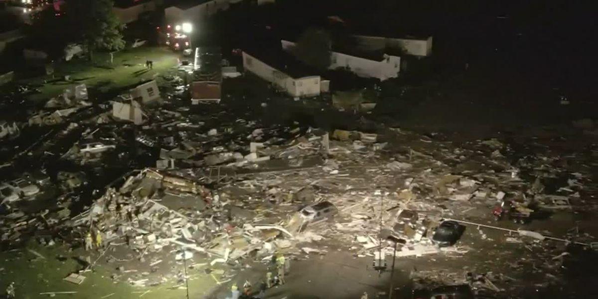 RAW: Drone video reveals devastation after possible tornado in El Reno
