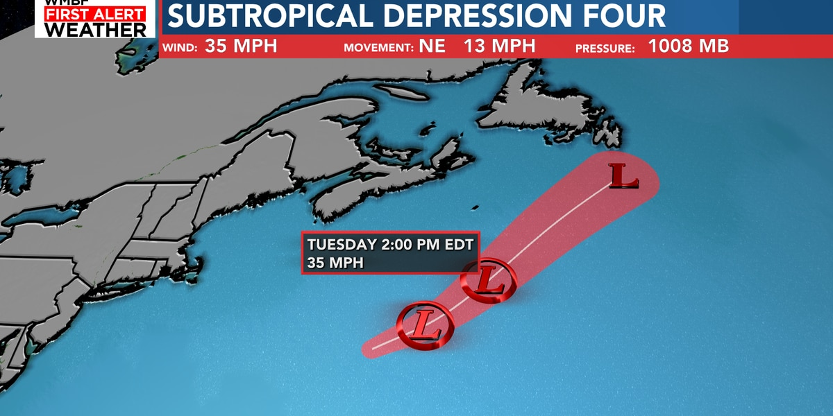FIRST ALERT: Subtropical Depression 4 forecast to remain a depression